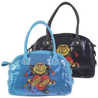 Ed Hardy Womens Adele Double Handle Bowler Handbag