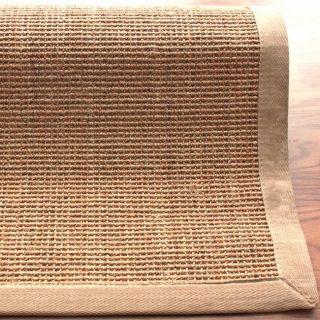 Handmade Alexa Eco Natural Fiber Cotton Border Sisal Rug (9  x 12