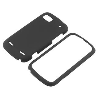 BasAcc Black Snap on Rubber Coated Case for ZTE N861 Warp Sequent
