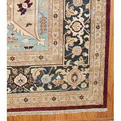 Afghan Hand knotted Serapi Burgundy Wool Rug (12 x 18)