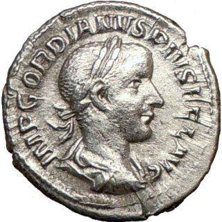 GORDIAN III w Globe 241AD Rare Denarius Authentic Ancient Silver Roman