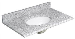Foremost HG37228RG Heritage 37 Inch Granite Vanity Top, Rushmore Grey