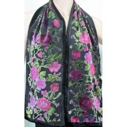 Symphony Designs Velvet Burnout 3 piece Scarf Set