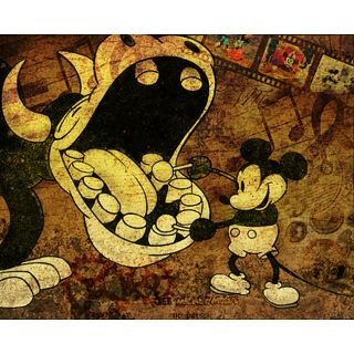 Disney Underground Musical Mouse Mickey Steampunk Collectible Giclee