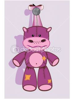 Vector of Cartoon hippopotamus  Stock Vector © Olga Glushkova