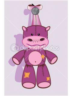 Vector of Cartoon hippopotamus  Stock Vector © Olga Glushkova