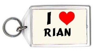 I love Rian personalized keychain (first name/surname