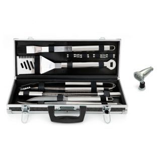 Mr. Bar B Q 18 piece Platinum Prestige Stainless Steel Grilling Tool