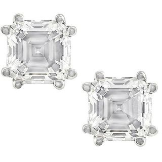 14 kt White Gold 1 1/2ct TDW Asscher Diamond Stud (H I, SI1 SI2) Today