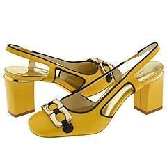 Marc by Marc Jacobs Posted Slg Chain Orn Yellow/ Navy Vogue Patent