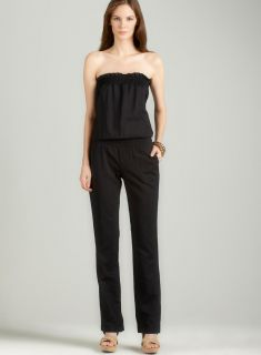 Planet Gold Linen jumpsuit in black
