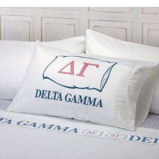 Excel Delta Gamma Cotton Sateen 400 Thread Count Sheet Set