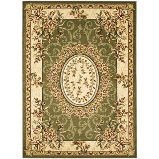 Safavieh Lyndhurst Collection Aubussons Sage/ Ivory Rug (9 x 12