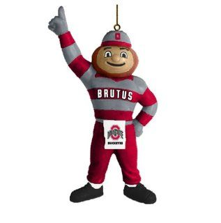 NCAA Ohio State Buckeyes Brutus Mascot Ornament Sports