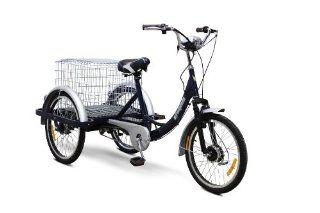 EWheels   Electric Trike Bicycle   EW 54   Blue Sports