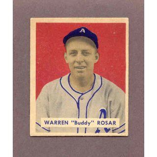 1949 Bowman #138 Buddy Rosar As EX MT 173920 Kit Young