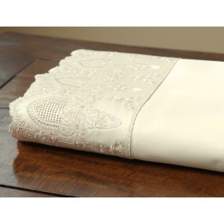 400 Thread Count Caprice Lace Pillowcases (Set of 2)