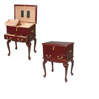 400 Cigar Queen Anne Table Humidor
