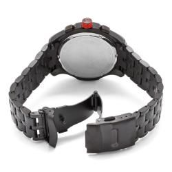Red Line Mens Starter Black Ion Plated Stainless Steel Watch