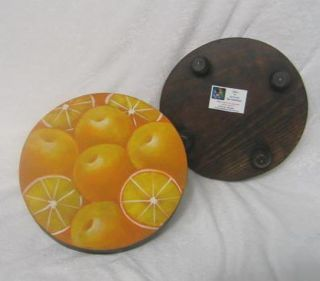 Hand carved Wooden Lemon Trivet (El Salvador)