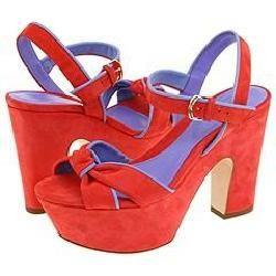 Sergio Rossi Dody AV3455 Coral/Lavander Sandals