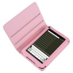 Pink 360 degree Swivel Leather Case for  Kindle Fire