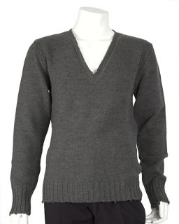 Dolce & Gabbana Mens Grey Wool V neck Sweater