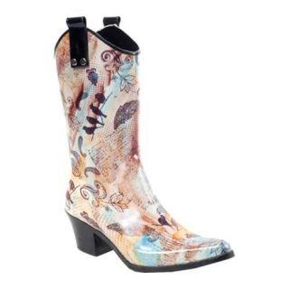 Womens RainBOPS Cowgirl Style Rain Boot Joi de Vivre