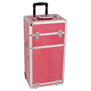 Hot Pink Crocodile Rolling Makeup Case Today $171.72