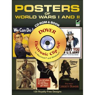 Dover Publications Posters of World Wars I & II Cd Rom Books