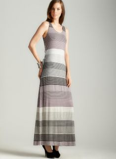 Max Studio Tie Side Striped Maxi Dress