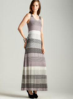 Max Studio Tie Side Striped Maxi Dress