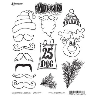 Dyan Reaveleys Dylusions Cling Stamp Collection Christmas Accessories