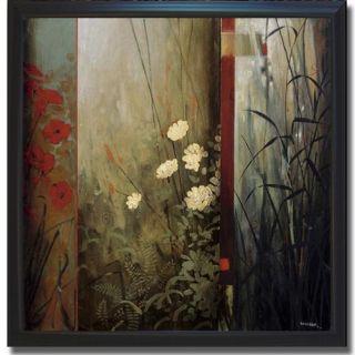 Don Li Leger Rainforest Poppies Framed Canvas Art