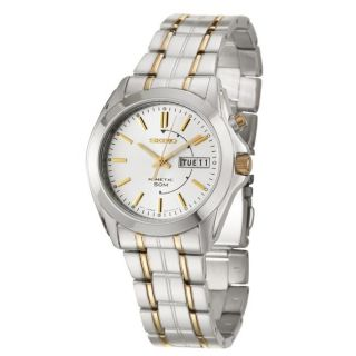 Seiko Mens Kinetic Stainless and Yellow Goldplated Steel Kinetic