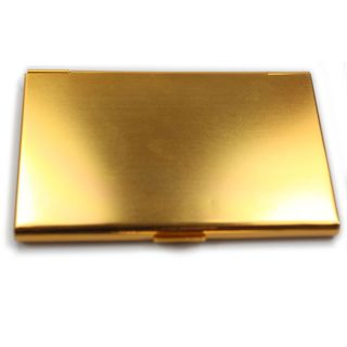 Aluminum Gold Business / Credit Card Case Holder