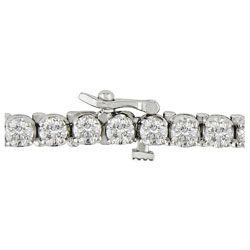 14k Gold 8 carat TW Diamond Tennis Bracelet