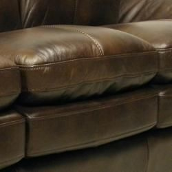 Mason Brown Italian Leather Sofa/ Loveseat Set