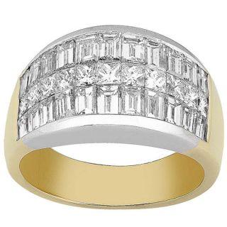 Platinum & 18k Gold 2 7/8ct TDW Diamond Wedding Band (G H, VS SI