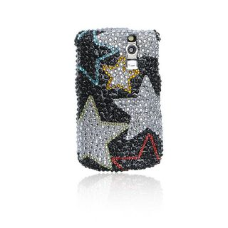 Silver Star BlackBerry Curve 8300/ 8330 Rhinestones Case