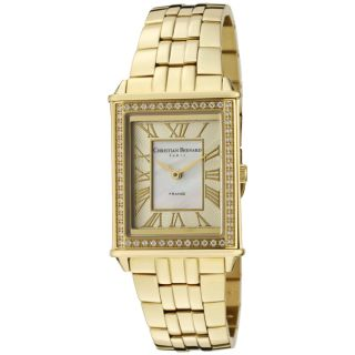 Christian Bernard Womens Highlight Goldtone Ion Plated SS Watch
