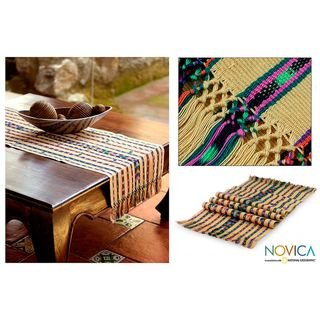 Handcrafted Cotton Gifts of the Earth Table Runner (Guatemala