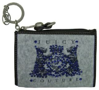 Juicy Couture Scottie Bling Key Ring Wallet Heather Cozy Shoes