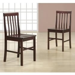 Espresso 7 piece Wood Dining Set