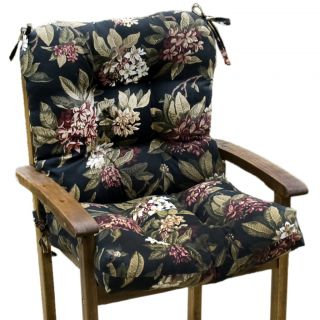 Outdoor Moonflower Seat/ Back Combo Cushion