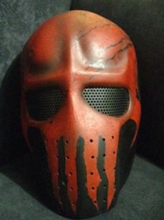 Cactus Hobby Custom Airsoft Wire Mesh Army Mask (Red Skull