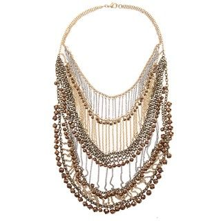 Morgan Ashleigh Two tone Glass Bead Bib Necklace