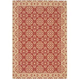 Safavieh CY6550 28 8 Courtyard Collection Red and Cream