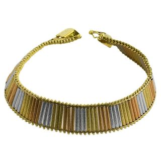 14k Three color Gold 7 inch Athina Bracelet