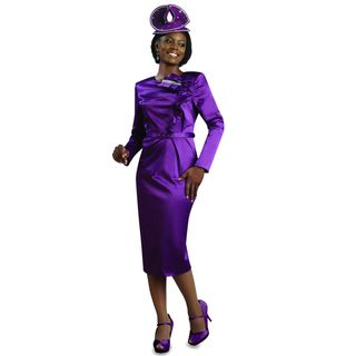 Lisa Rene Womens Purple Belted Dress